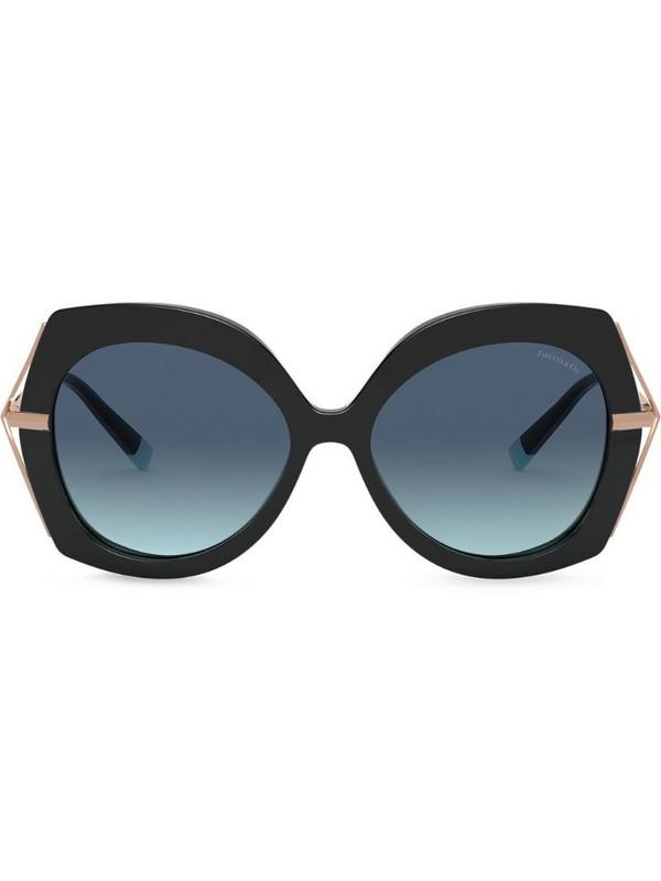 Tiffany & Co Eyewear Butterfly oversized-frame sunglasses in black