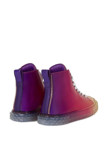 Giuseppe Zanotti gradient effect hi-top sneakers in red