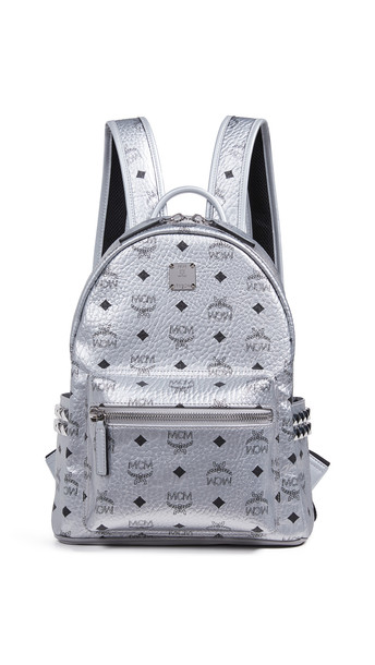 MCM Stark Backpack 32 in silver