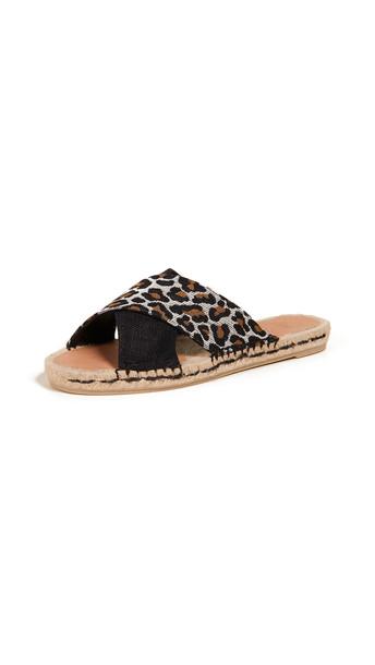 Castaner Paloma Crisscross Slide Sandals in black