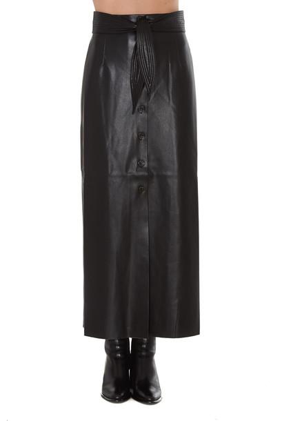 Nanushka Eco Leahter Arfen Skirt in black