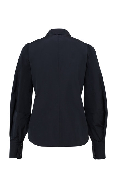 Dorothee Schumacher Taffeta Revolution Blouson Sleeve Top in black