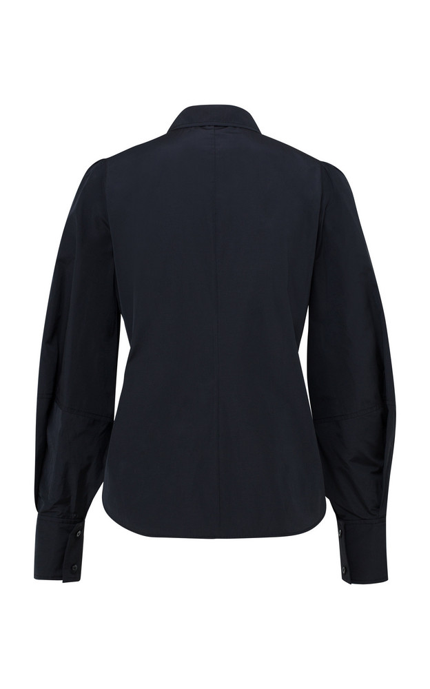 Dorothee Schumacher Taffeta Revolution Blouson Sleeve Top in black