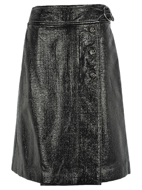 Marni Wrap Style Belted Skirt in black