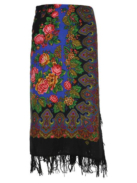 Vetements Scarf Skirt in black