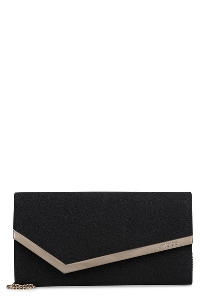 Jimmy Choo Emmie Glitter Clutch in black