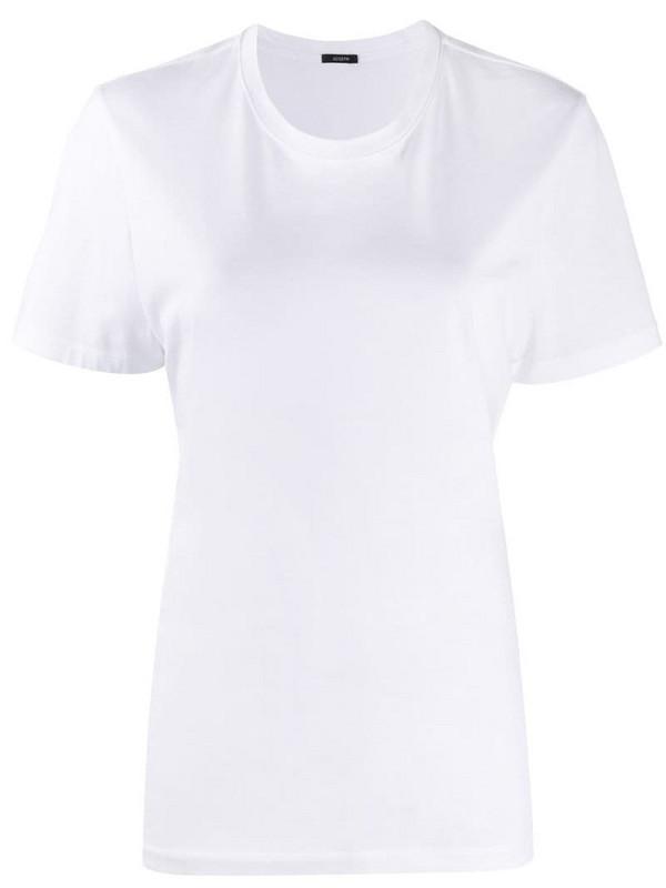 Joseph round neck jersey T-shirt in white