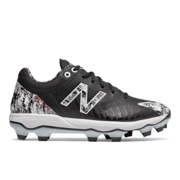 New Balance 4040v5 Pedroia TPU Men's Cleats and Turf Shoes - Black/White (PL4040E5)