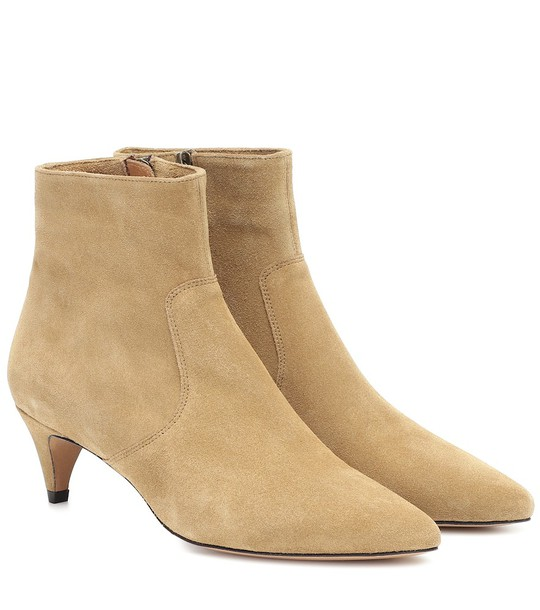 Isabel Marant Derst suede ankle boots in beige