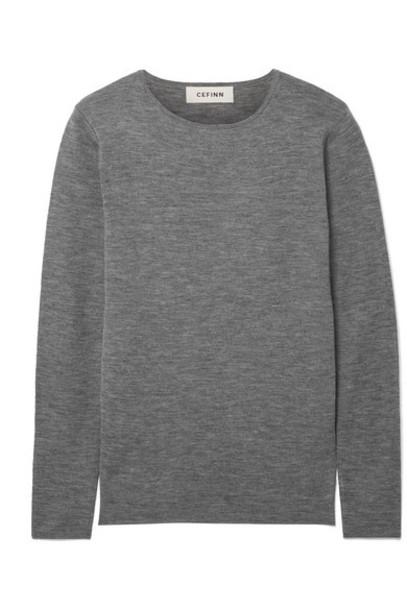 Cefinn - Freda Mélange Wool Sweater - Gray