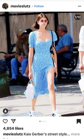 dress,kaia gerber