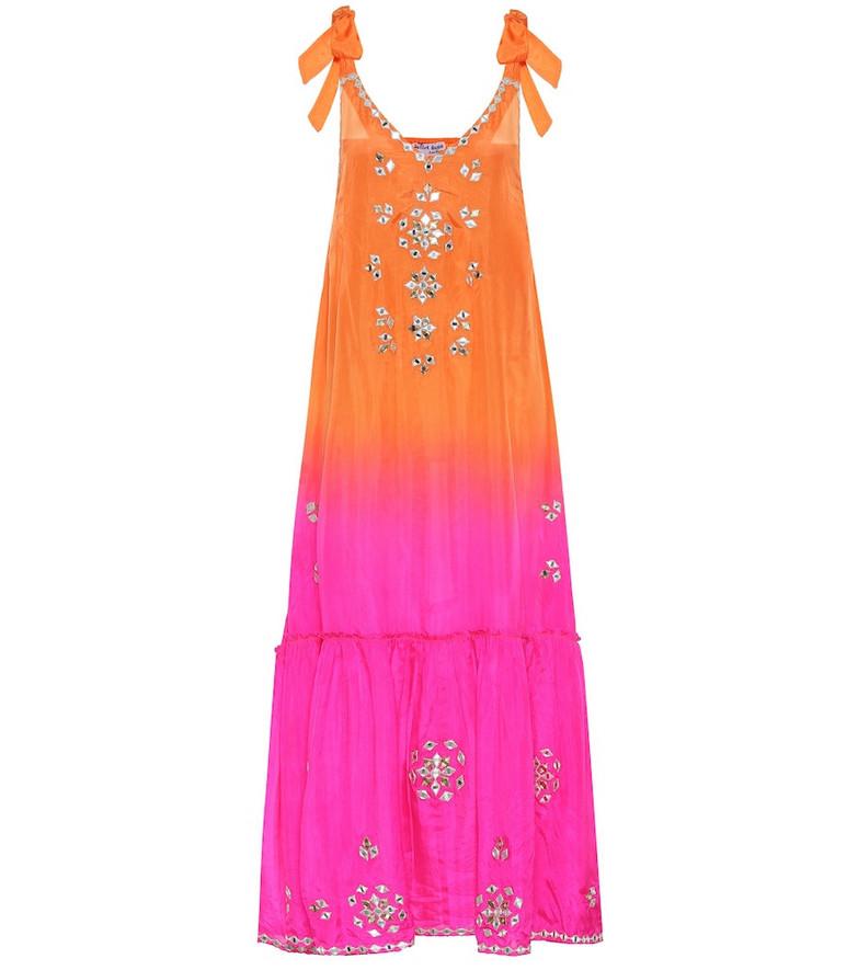Juliet Dunn Embellished silk maxi dress