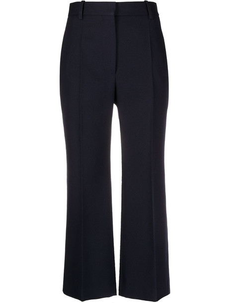 Victoria Beckham cropped trousers in blue