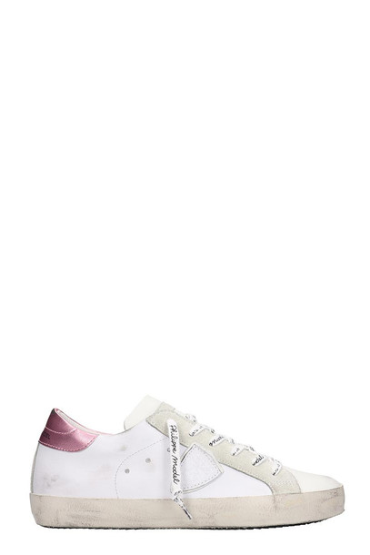 Philippe Model Paris Low Sneakers In White Leather