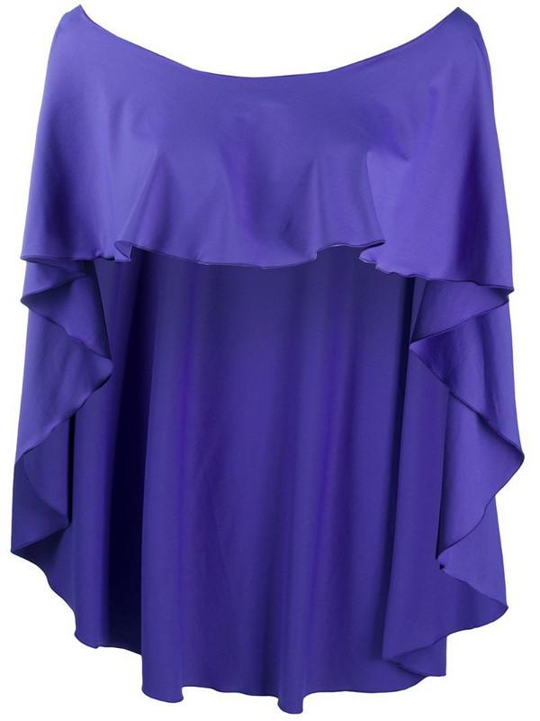 Fisico ruffle design cape in purple