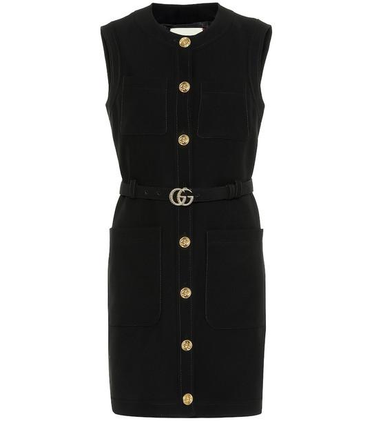 Gucci Silk and wool minidress in black