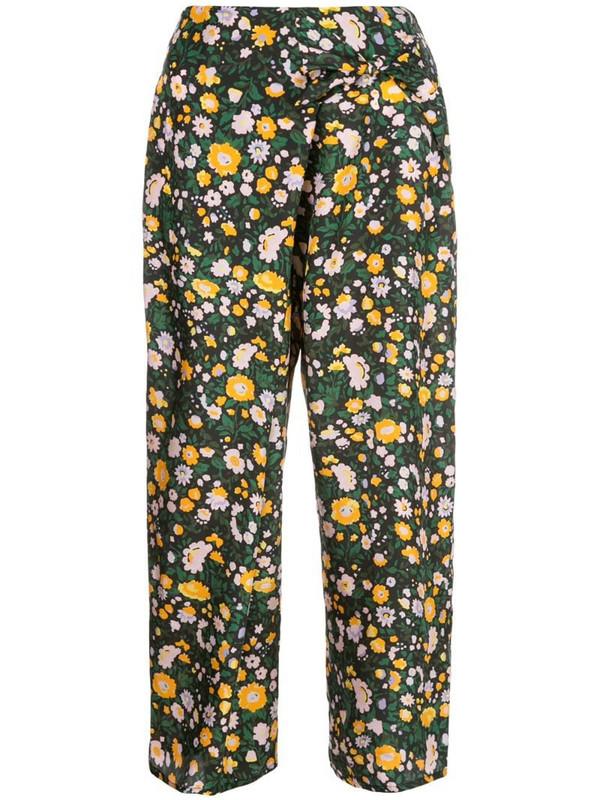 Apiece Apart Cruz floral-print trousers in green