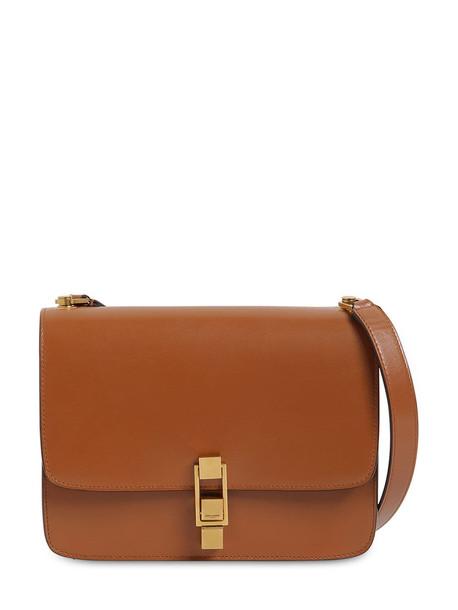 SAINT LAURENT Carré Leather Shoulder Bag in brick