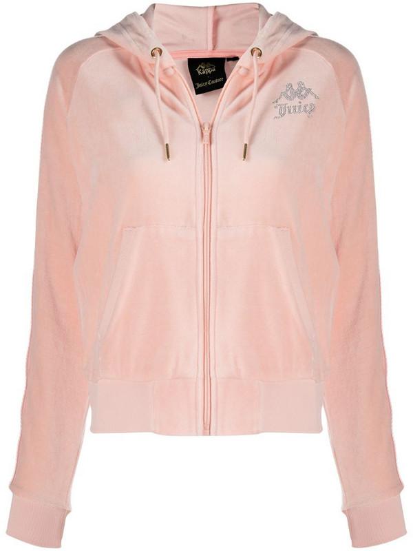 Kappa studded logo side panel hoodie in pink