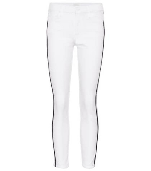 Mother The Looker Ankle skinny jeans in white
