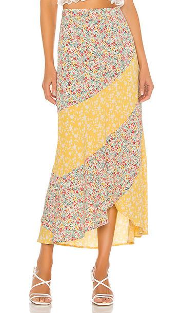 BB Dakota All Mixed Up Skirt in Yellow