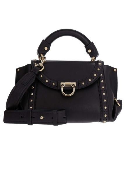 Salvatore Ferragamo Sofia Studded Mini Handbag in black