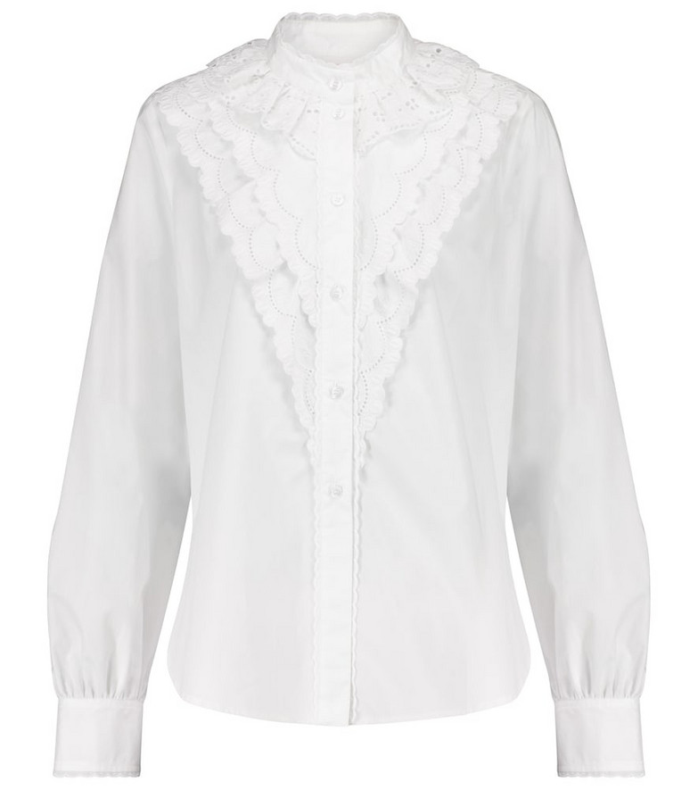 See By Chloé Broderie anglaise cotton blouse in white
