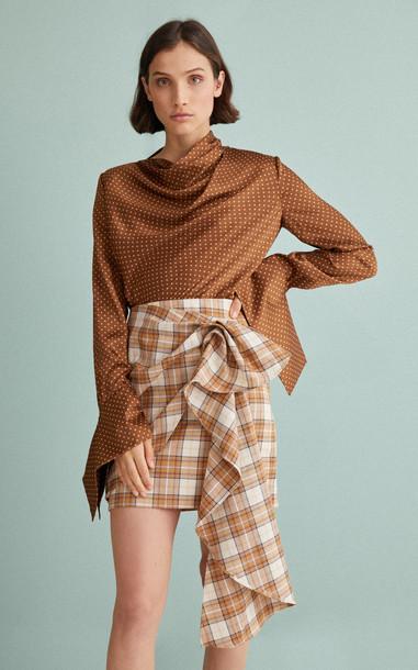 Acler Nordek High-Waisted Ruffle Mini Skirt