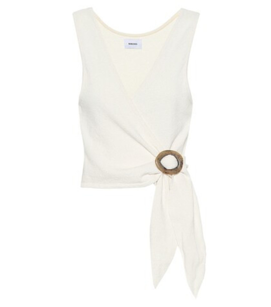 Nanushka Liz terry cloth top in beige