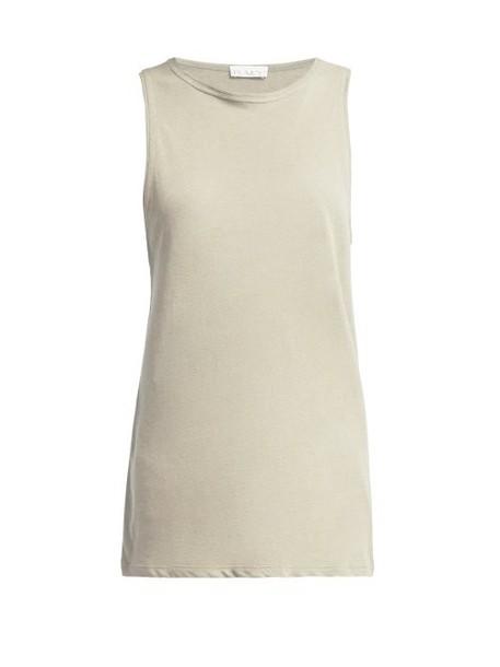 Raey - Racerback Cotton Tank Top - Womens - Grey