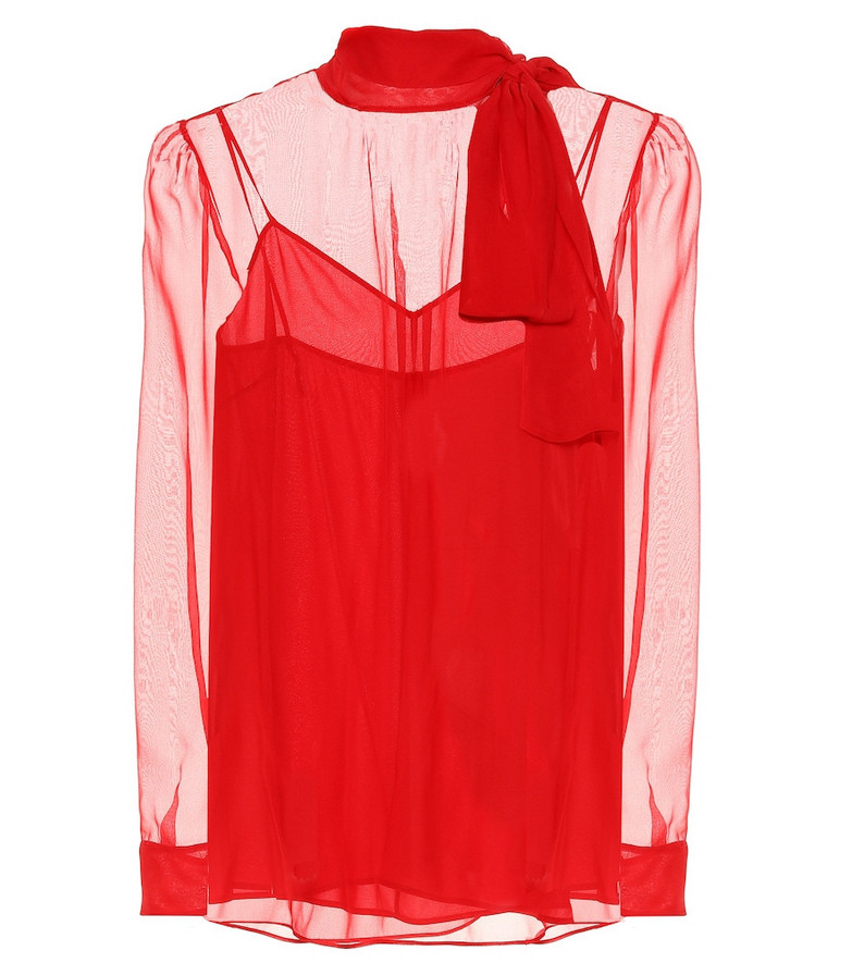 Valentino Chiffon blouse in red