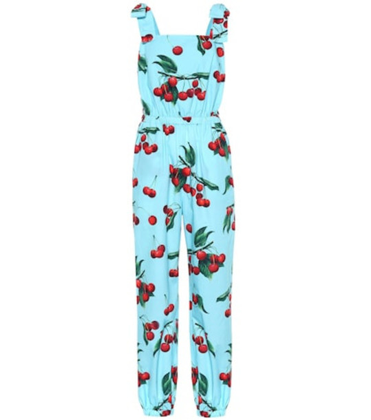 Dolce & Gabbana Exclusive to Mytheresa – cherry printed cotton jumpsuit in blue