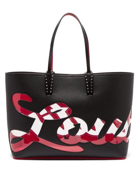 Christian Louboutin - Cabata Pvc Logo Leather Bag - Womens - Black Multi