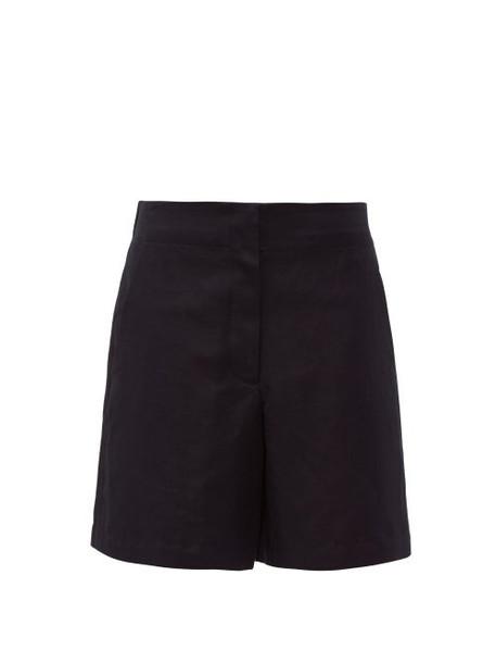 Raey - Elasticated Back Cotton Blend Shorts - Womens - Navy