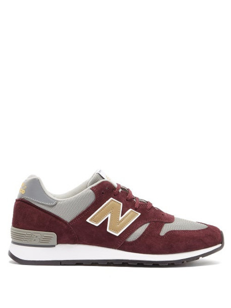 New Balance - Made In England 670 Suede And Mesh Trainers - Mens - Grey Multi