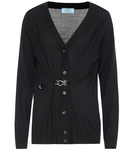 Prada Wool cardigan in black