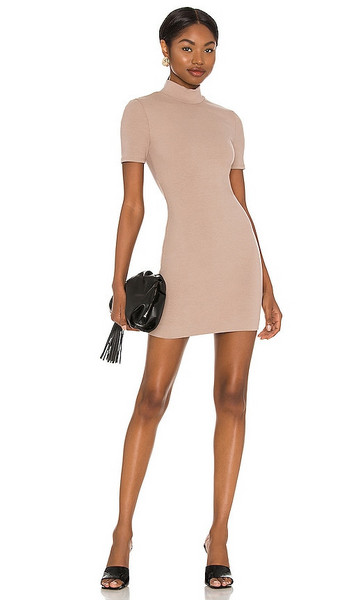 NBD Marquis Mini Dress in Nude in taupe