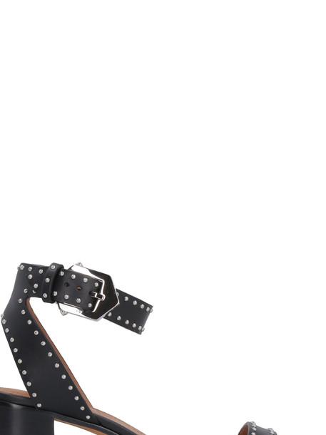Givenchy Elegant Studded Leather Sandals in black