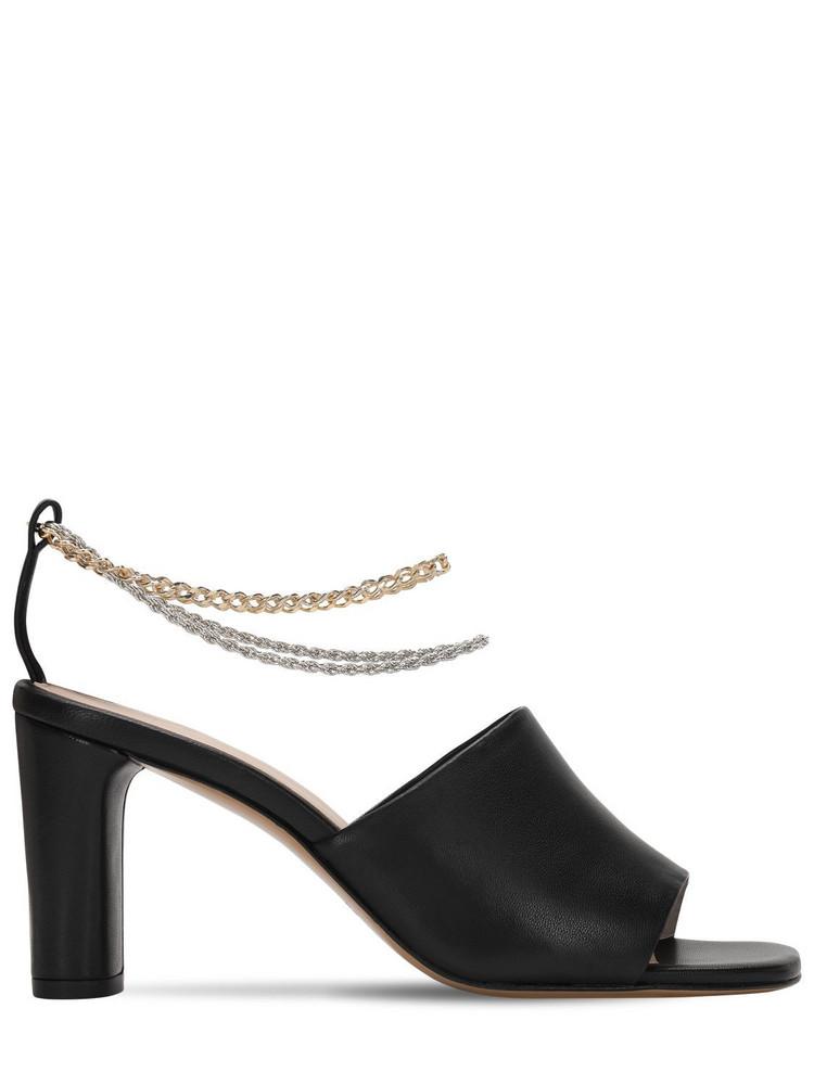 KALDA 70mm Inez Leather Sandals in black