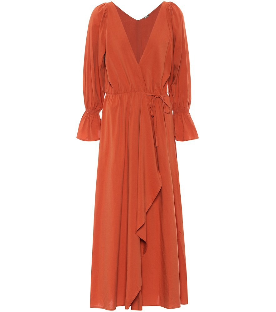 Cult Gaia Oona cotton-blend midi dress in red