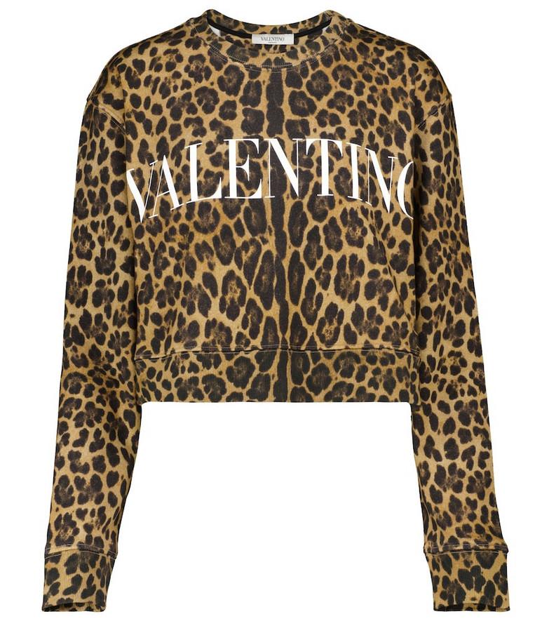 Valentino Logo leopard-print sweatshirt
