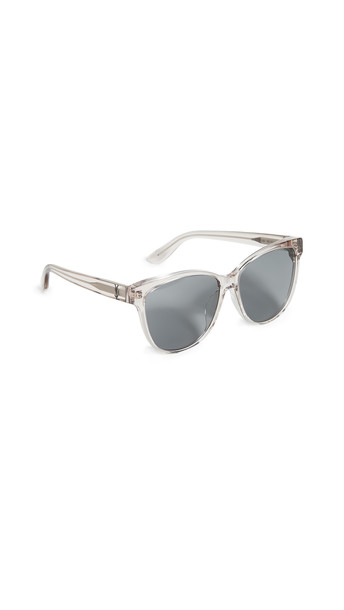 Saint Laurent Signature Classic Sunglasses in black / tan