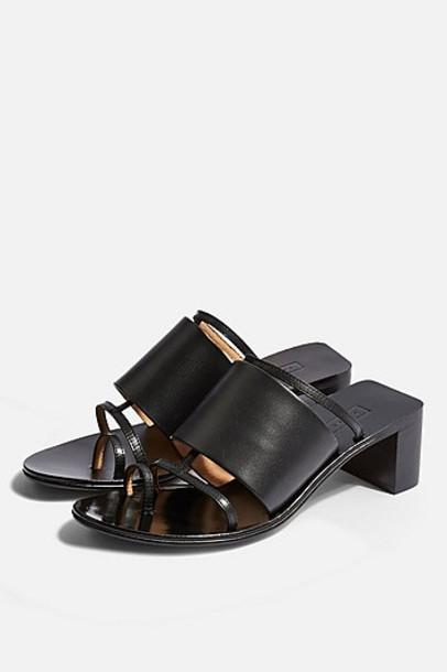 Topshop Violet Mule Sandals - Black
