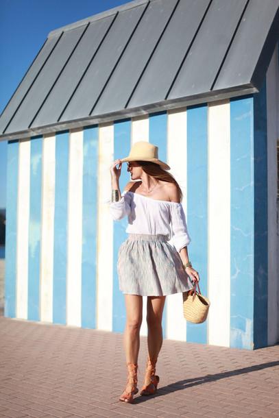 b a r t a b a c blogger skirt top shoes sunglasses bag