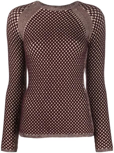 Victoria Victoria Beckham textured-knit jumper in brown