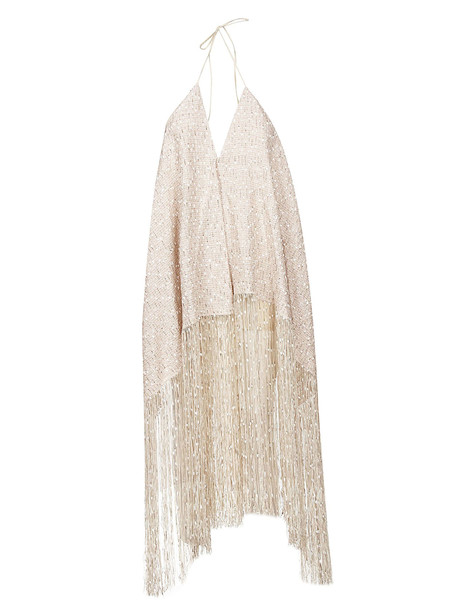 Jacquemus Frayed Dress in beige