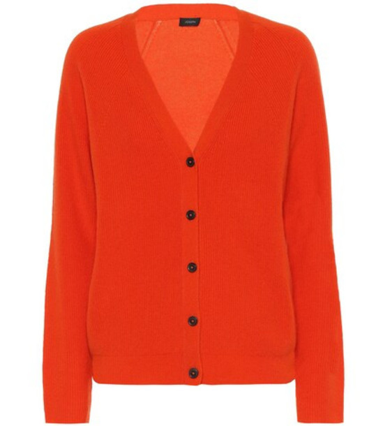 Joseph Cashmere cardigan in orange