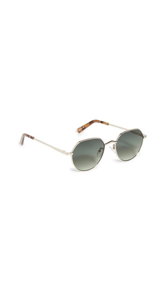 Le Specs Newfangle Sunglasses in gold