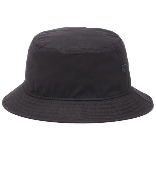 Acne Studios Buk Face cotton-twill hat in black
