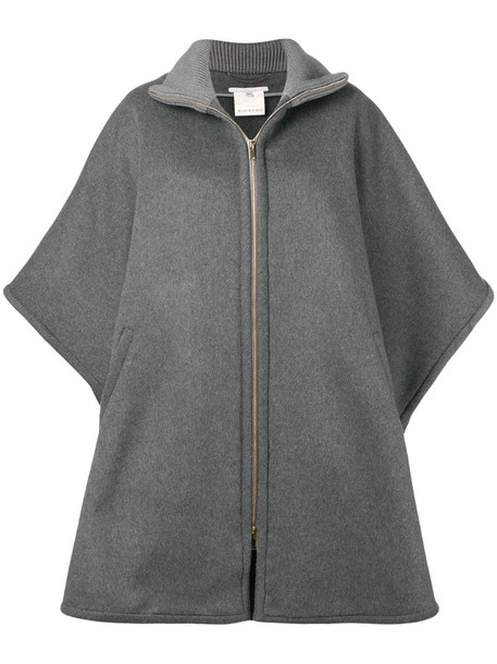 Stella McCartney oversized zip-front cape in grey